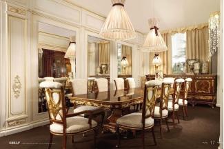 Grilli奢华新古典雕花餐厅系列