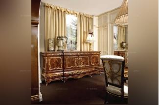 Grilli奢华新古典雕花实木备餐柜