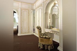 Grilli奢华新古典雕花卧室妆台系列