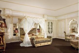 Grilli奢华新古典雕花卧室系列