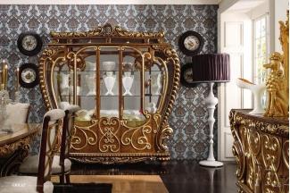 Grilli奢华新古典雕花餐厅系列酒柜