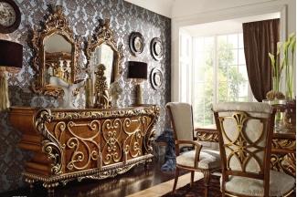 Grilli奢华新古典雕花餐厅装饰柜