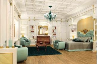 Grilli奢华新古典雕花卧室布艺系列