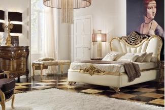 Grilli奢华新古典卧室金色系列