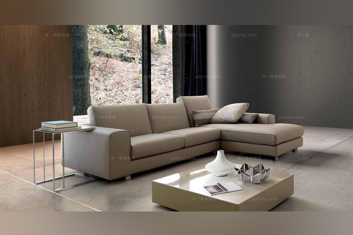 dema高檔時尚簡約現代轉角沙發_意大利家具圖片