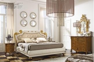 Grilli奢华新古典皮质软床卧室系列