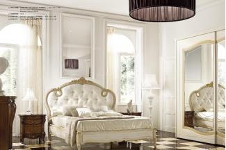 Grilli奢华新古典卧室白色做旧系列