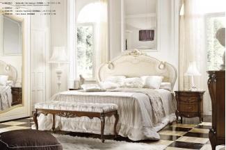 Grilli奢华新古典雕花白色卧室系列