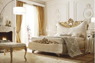 Grilli奢华新古典金色雕花布艺软床系列