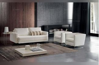 Dema高端时尚简约现代白色沙发套组