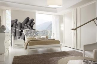 Grilli奢华新古典实木白色卧室系列