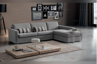 Dema高端时尚简约现代转角灰色沙发