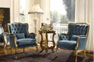 Grilli奢华新古典布艺客厅系列