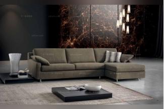 Dema高端时尚简约浅绿色现代转角沙发