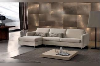 Dema高端品牌简约现代米白色转角沙发
