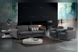 Dema高端品牌简约现代深灰色沙发组合