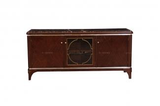 高端品牌深色实木家具现代新古典电视柜