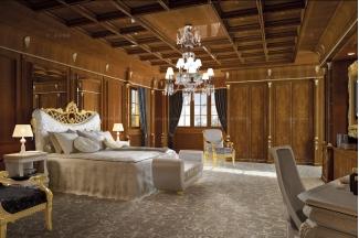 Grilli奢华新古典实木家具布艺卧室系列