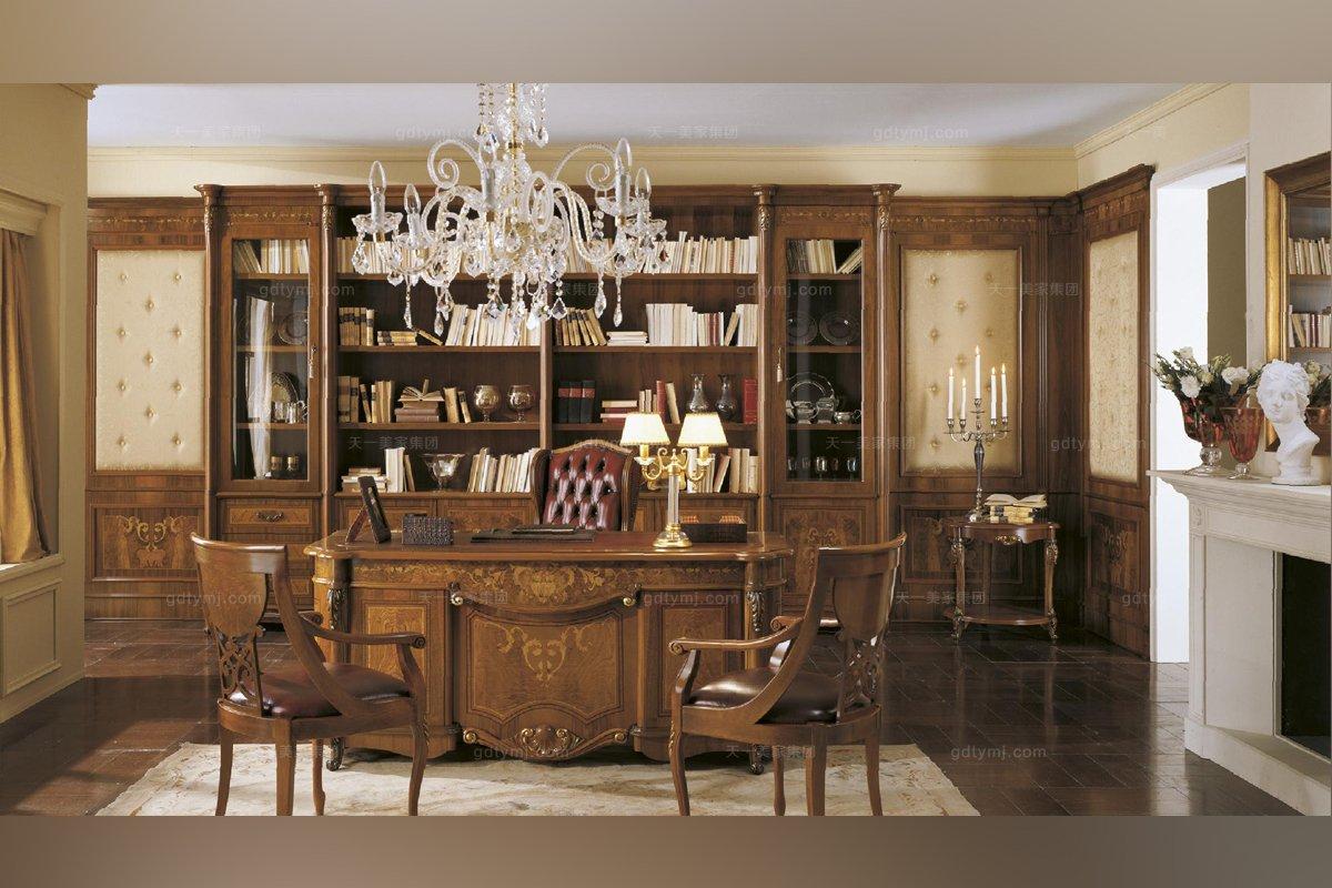 Grilli奢华新古典露木色书房系列