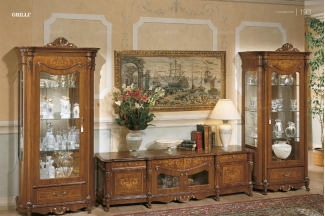 Grilli奢华新古典实木雕花酒柜系列