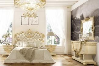 Grilli奢华新古典实木雕花卧室白色系列