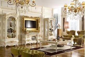 Grilli奢华新古典实木家具布艺客厅系列