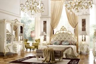 Grilli奢华新古典实木雕花白色卧室系列