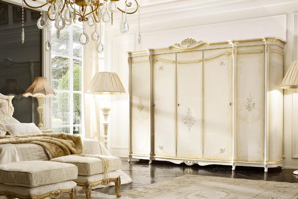 Grilli奢华新古典实木雕花卧室衣柜系列