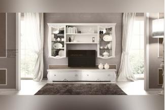SIGNORINI&COCO欧式白色实木家具电视柜组合