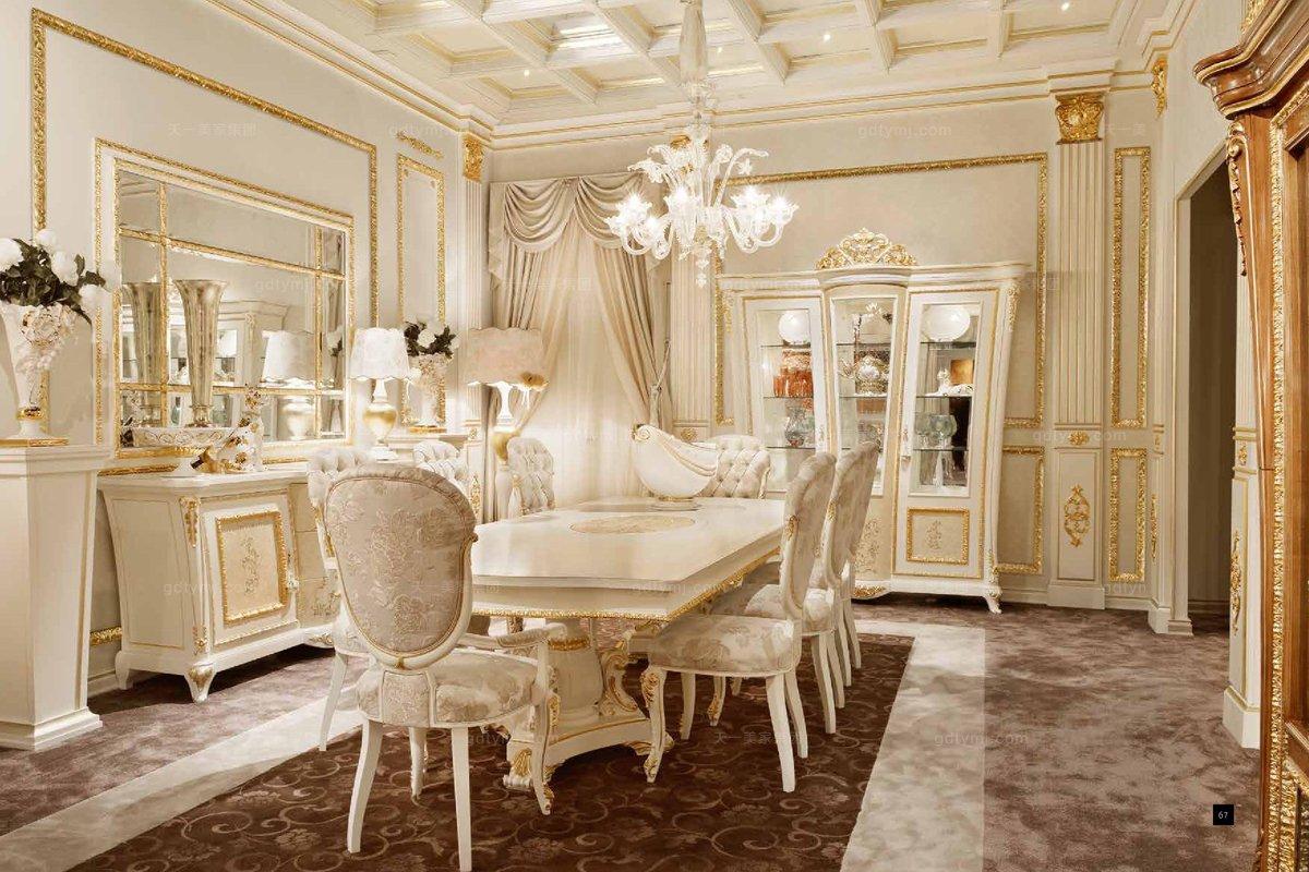 别墅家具SIGNORINI&COCO欧式实木餐厅系列