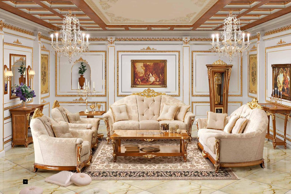 i&coco欧式客厅布艺沙发
