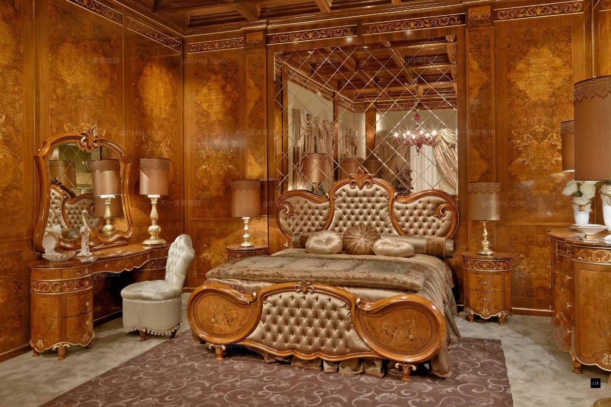 意大利家具SIGNORINI&COCO新古典樱桃色实木卧室系列