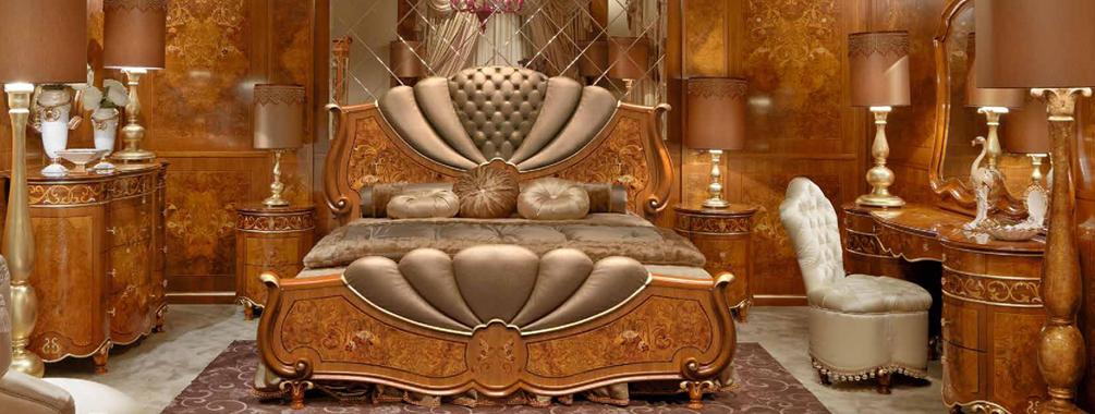 意大利万博手机网页SIGNORINI&COCO新古典樱桃色实木卧室系列