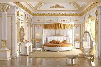 星级酒店万博手机网页SIGNORINI&COCO新古典金色雕刻卧室系列