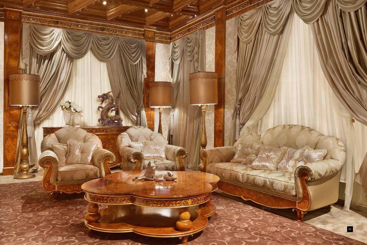 国外高端家具品牌signorini&coco欧式花纹布艺客厅系