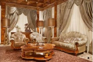 國外高端家具品牌SIGNORINI&COCO花紋布藝客廳系列