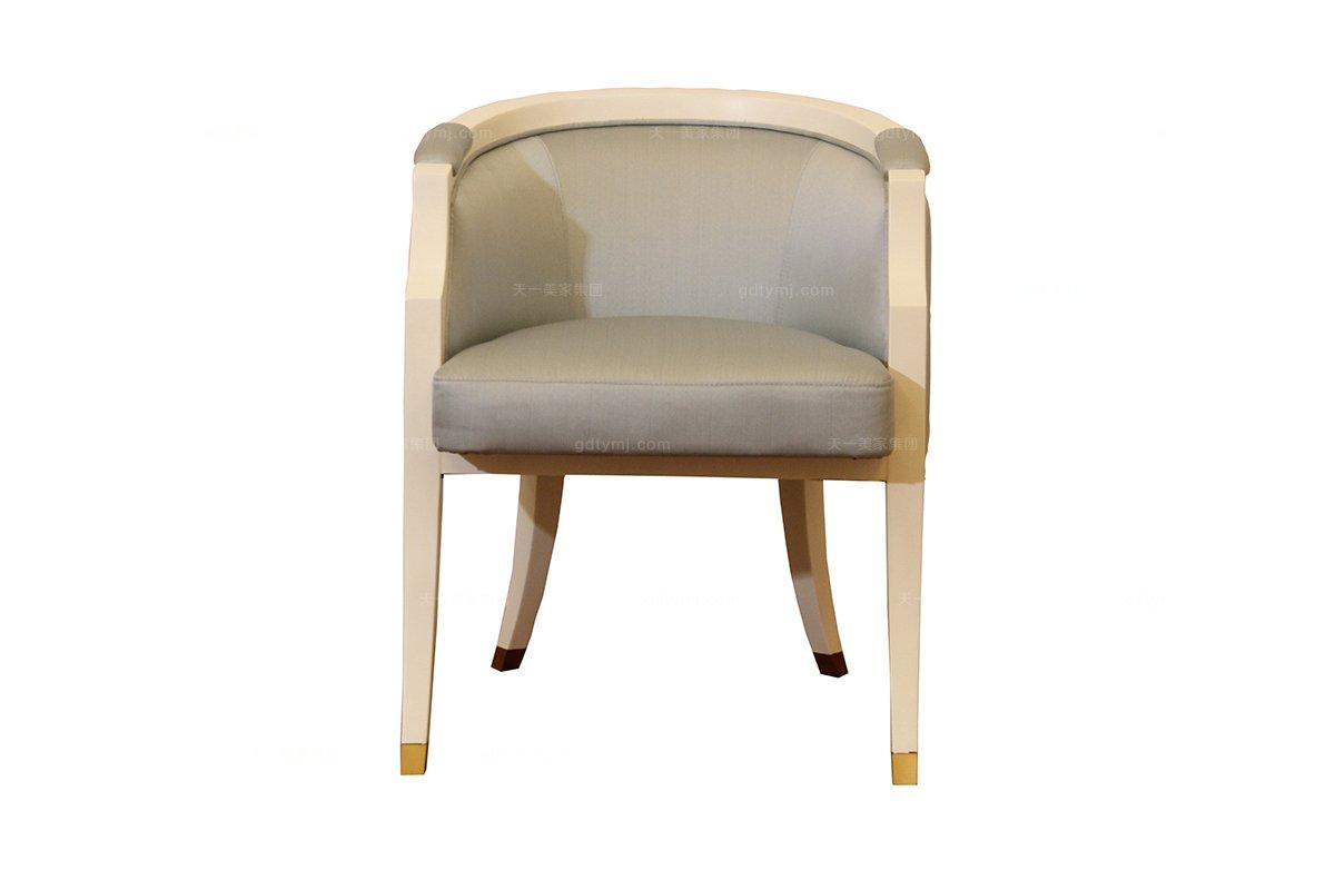 别墅家具批发高端时尚简约新古典浅色妆椅