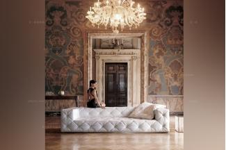 Longhi现代白色长沙发