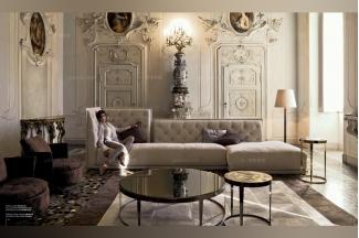 Longhi现代灰色客厅组合沙发
