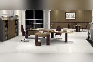 codutti 办公家具原木色双人办公室系列