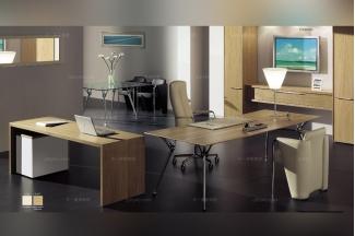 codutti 办公家具原木色单人办公室系列