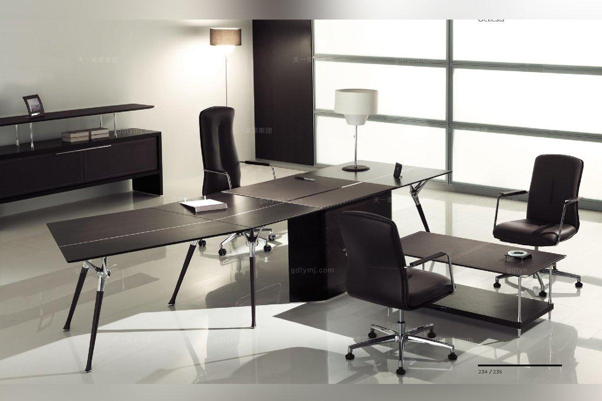 codutti 办公家具黑色单人办公室系列图片