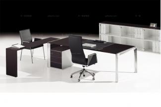 codutti 办公家具黑色台面单人办公桌系列