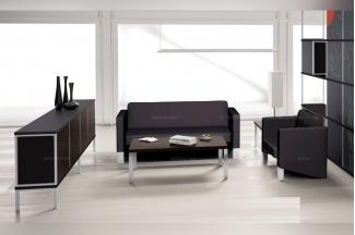 codutti 办公家具黑色会客沙发系列