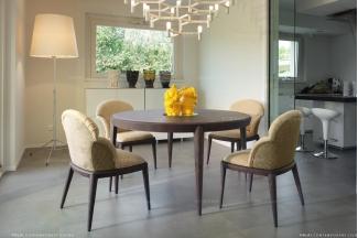 Volpi意大利进口法式圆餐台+餐椅