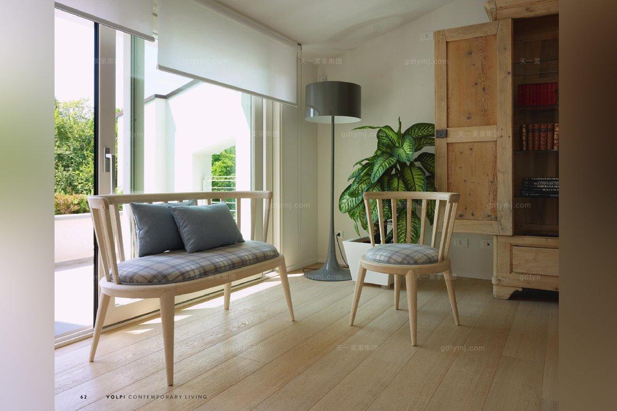 意大利进口法式休闲实木沙发组合