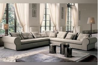 现代高端家具Longhi米色布艺组合沙发系列
