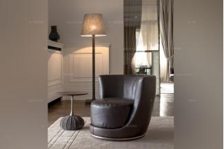 Longhi现代时尚黑色休闲沙发