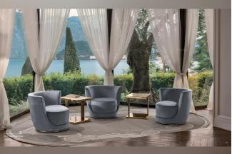 Longhi现代时尚灰色休闲椅