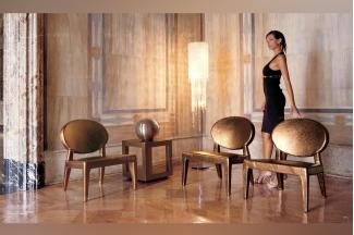 Longhi现代时尚土黄色休闲椅
